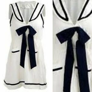 Pinup Couture Glam Navy & White Sailor Dress